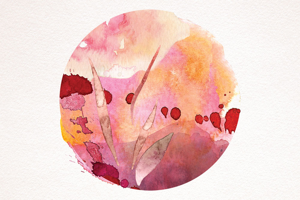 abstract watercolour illustration