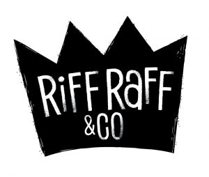Black crown Riff Raff & Co brand