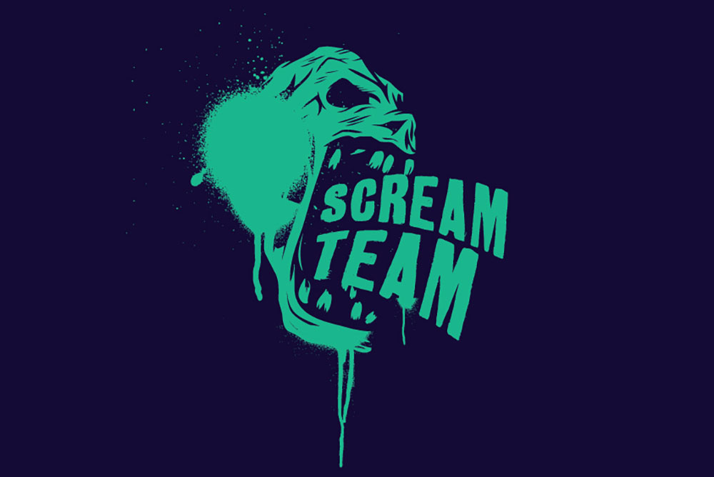 Spooktober graphic Scream Team