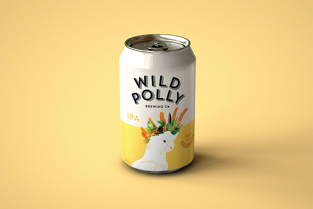 Wild Polly Beer Can